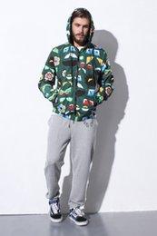 Haute Mode Vente Chaude S331 Hommes Veste Avec Capuchon Mesh Doublure Manteau Vêtements Casque Style Vintage Kanye West Style Streetwear Livraison gratuite à partir de lignes de capot fabricateur