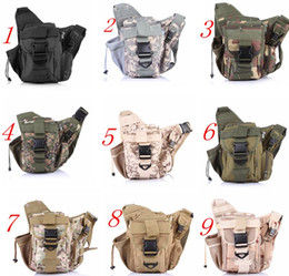 Wholesale Best Quality Army Tactical Backpack Oxford Camouflage Waist bag For Outdoor Casual Camping Traveling Hiking Trekking Cross Camera Bags