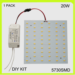 110V 120V 2 year warranty surface mounted 20W LED Panel ceiling light kit led 2d light 15*15cm 2100lm square for led advertising light