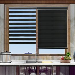 Wholesale Classic Plain Rainbow Roller Blinds window curtain for kitchen Living Room High Quality Zebra Blind Curtain