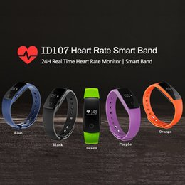 Wholesale ID107 Smart Bluetooth Bracelet Dynamic Heart Rate Call Information Reminder Gift Waterproof Sports Bracelet Wristband with Retail Package