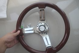high quality 350mm  14inch Wooden Phoebe steering wheel racing car steering wheel three racing Phoebe