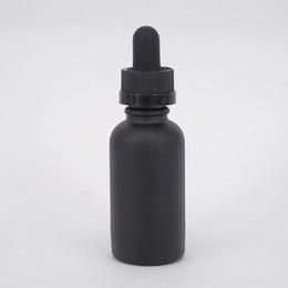 Matte black glass dropper bottle 30ml high quality eliquid soap oil bottle pipette dropper tamper seal no-leak cap for ejuice sample bottle