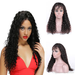Human Hair Deep Wave Full Lace Human Hair Wigs For Black Women Pre Plucked Hairline Brazilian Remy Hair Wigs With Bleached Knots