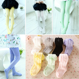 Wholesale Lolita Winter Boots - 7 Color Baby Girl Tights Children Pantyhose 0-4years Kids Sock Girls Stocking Bottom Boot Pant Underpant Princess Cotton Elastic Leggings
