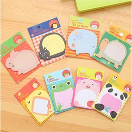 Wholesale 1 Pics Panda Frog Cat Rabbit Korean Planner Sticker Post It Kawaii Memo Pad Scrapbooking Cute Korean Stationery School Supplies