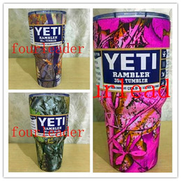 Wholesale Cheapest DHL only camouflage color yeti cups CAMO MUG WITH LOGO thermos mug CAMO CUP