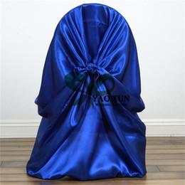 50pcs Sale Satin Chair Cover \ Cheap Wedding Chair Covers