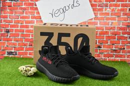 Wholesale Online Best SPLY Boost V2 New Kanye West Boost V2 SPLY Season Running Shoes Grey Orange Stripes