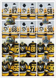 2017 50th 2017 Stanley Cup Champions Pittsburgh Penguins 87 Sidney Crosby 81 Phil Kessel 71 Evgeni Malkin 66 Mario Lemieux Hockey Jerseys