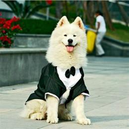 Купить Онлайн Большие костюмы для собак-Одежда для большой собаки Одежда для большой собаки для свадьбы Одежда для смокингов Одежда для собак Бульдог Собака для официальных пиджаков Одежда для куртки Костюмная одежда