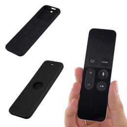 Promotion silicone couvre pour les télécommandes Étui pour Apple TV 4ème télécommande Housse de protection Housse de protection en silicone