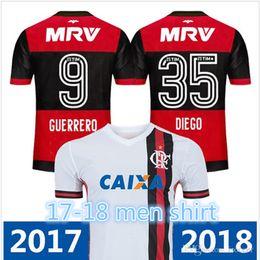 men shirt Wholesale - 17 18 flamengo jersey Flamengo Jersey 2017 2018 Brasil Flemish Away ZICO ELANO HERNANE Soccer Jerseys sports boy chlid
