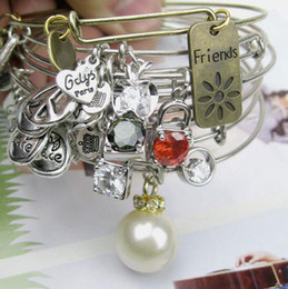 Wholesale alex and ani bangles Women Charms Alex Ani starfish Alloy Pearl pendant Bracelet Vintage Alex and Ani Bracelets Bangles