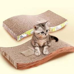 Tampons chat à gratter en Ligne-Livraison Gratuite S-Shaped Pet Cat Cat Scratch Scratcher Saisir Catch Pad Pad Mat Lit Catnip 45x24x5cm ASLT