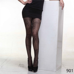Hot Fashion Women Sexy Black Net Pattern Jacquard Slim Tights High Quality Pantyhose Women Stockings Sexy Lingerie Club Party Hosiery