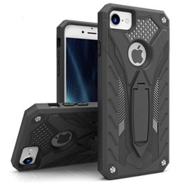Hybird Armor Mobile Phone Case For ipone7&7plus Case Hard Back Cover Silicon Quickstand For cellpone back cover pc tpu stand case