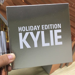 Wholesale 30sets in stock kylie Full Size pc Holiday Kit Matte Liquid Lipsticks Gloss Cupid Angel Blitzen Noel kylie holiday edition lipstick