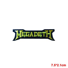 Wholesale MEGADETH Sew Iron On Patch Rock Band Heavy Thrash Metal Logo Music Embroidered