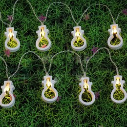 2017 luces de hadas blancas con pilas Bombilla de madera blanca caliente llevó la energía de la batería presupuesto luces de hadas blancas con pilas