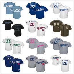 Wholesale LA Dodgers Clayton Kershaw Black Gray Blue Spring Training White Celtic Majestic Los Angeles Dodgers MLB Baseball Jerseys