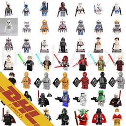 Wholesale 500pcs Star Wars Minifigures Rouge One Imperial Clone Trooper C PO Luke Skywalker Yoda POGO Minifigure Building Blocks Toys for Kids