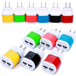 New arrival 5V 2.1A dual usb ports us home wall charger travel adapter For Smart Phone,Mobile phone,Android phone