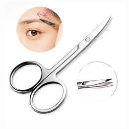 Descuento recortar las herramientas de corte La nueva mini pestaña de la ceja de la venta al por mayor-1Pc Scissor el maquillaje de la herramienta del maquillaje de las herramientas de la herramienta del removedor de la pestaña del cortador del pelo del cortador de la ceja de Comestic