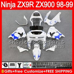 8Gifts 23Colors For KAWASAKI NINJA ZX 9 R ZX9R 98 99 00 01 900CC 48HM5 ZX 9R ZX900 ZX900C ZX-9R 1998 1999 2000 2001 Fairing kit