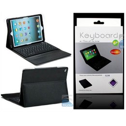 Wholesale Bluetooth Wireless Keyboard Leather Case For iPad Mini Ipad Air TAB4 T530 T230 T330 Protective Lined For Ipad With Keyboard
