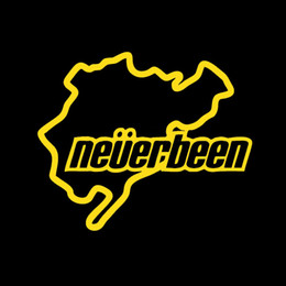Wholesale Jdm Neverbeen Nurburgring Vinyl Decal Car Stickers For Car Window Bumper Auto Parts Scratches Motorcycles