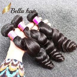 Mixed Length 8''~30'' European Hair 3 Bundles Human Hair Weave Wavy Loose Wave Natural Black Color Hair Extension Free Shipping
