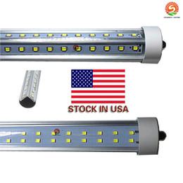 8 ft led single pin fa8 tube 72W V-Shaped and Dural row Double Sides Cree2835 Led Light Tubes 8ft led AC85-265V UL DLC