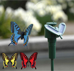 Wholesale HOT New Solar Hummingbirds Butterflies Garden toys students enlightenment educational toys solar and battery combo GIFT Simulation toys