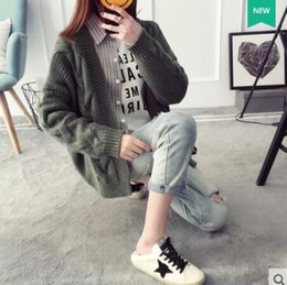 Short section twist sweater sweater 2017 new tide thick clothes spring jacket sweater Korean loose