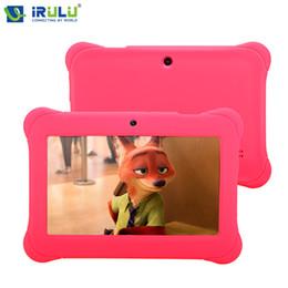 Couleur dual quad en Ligne-Wholesale- iRULU Y1 BabyPad 7 '' Android 4.4 Tablet Quad Core Dual Camera Enfants Tablette 1 Go de RAM 8G ROM avec Silicone Case Candy Couleur Nouveau