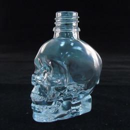Cheap clear transparent skull dropper bottle 30ml 60ml 120ml e liquid glass bottle high quality child safty ejuice vape sample bottle