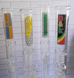 Nid d'abeille recycleur en Ligne-Bong Nouveau trois Filtre Bongs Honeycomb Recycler Water Pipe Verre Bong boule de verre Hookahs pour fumer