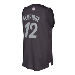 Wholesale Best Quality LaMarcus Aldridge Christmas Jersey Kawhi Leonard Xmas Day Jerseys Uniforms Home Black Men