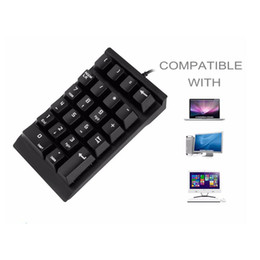 Wholesale SeenDa Blue Axis Switch Mechanical Digital Small Keyboard Financial Accounting Bank General Computer External Mini USB Keyboard