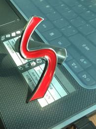 Wholesale 3D Metal Red S Sport Logo Front Grille Badge Decal mini Cooper R57 R60 EMBLEM