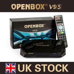 Wholesale 10pcs Original Openbox V9S HD DVB S2 Satellite Receiver Support WEB TV Biss Key USB Wifi G CCCAMD NEWCAMD Free IPTV Stock in UK