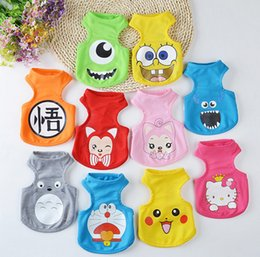 Wholesale Cute New Years Shirts - 10 Color Summer Cute Totoro Dog Vest Cartoon Small Animals Dog Vest Teddy Dog Puppy Clothes Pet Shirt Roupa Para Garment