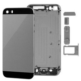 30PCS Metal Full Housing Back Cover Battery Cover with Side Buttons for iPhone 5 5s SE free DHL