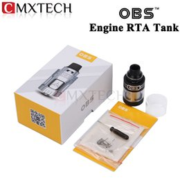 Wholesale OBS Engine RTA Tank ml Side Filling Top Airflow Design Rebuildable Electronic Cigarette Atomizer Full Glass window Vaporizer
