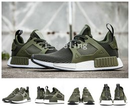 Wholesale Newest Arrive NMD Runner Primeknit XR1 Fall Olive Green All Black Fashion Sneakers Men Women Youth Sports NMD XR1 Running Shoes Size