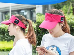 Wholesale Fashion Bluetooth baseball caps Stereo wireless earphone Handsfree for iPhone plus Samsung S6 S7 Music Hats