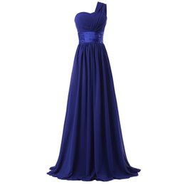 Wholesale Cheap Long Lace Peplum Dress - Chiffon One-Shoulder Long Evening Dress Short Sleeves Prom Dresses Long Evening Dress Special Occasion Plus Size Formal Cheap Party Gowns