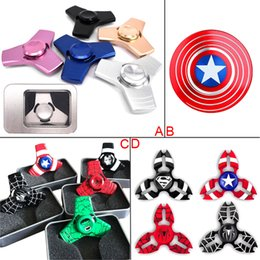 Wholesale New Arrival Fidget Spinner Captain America HandSpinner Spider Man Finger Gyro Finger EDC pour décompression Toy Anxiety Hand Spinner
