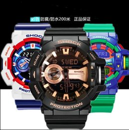 Wholesale Popular Mens G sport fashion Digital watches Led water proof Ga400 multifunction Trend sports watch with Box Case
